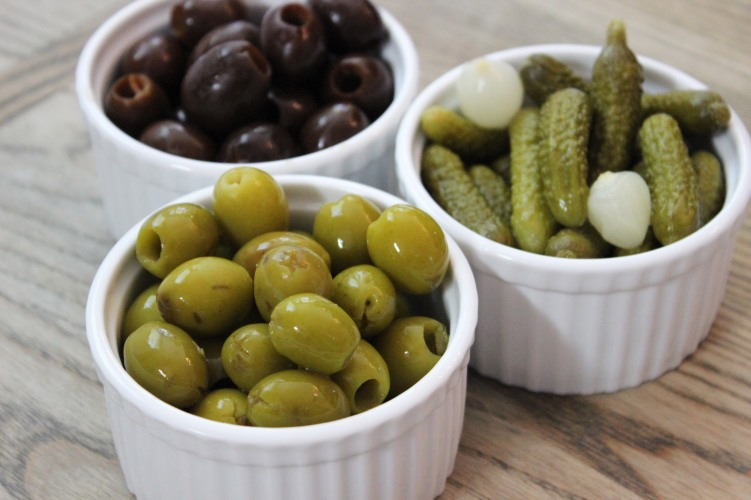 pickles and olives