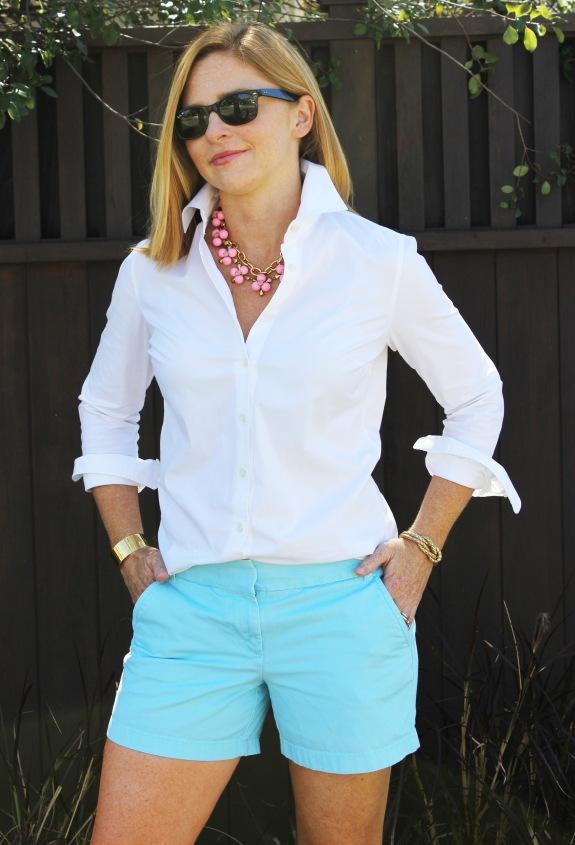white-shirt-bright-shorts