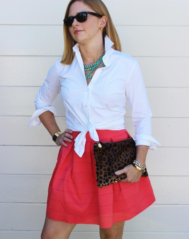 white-shirt-bright-skirt