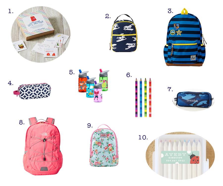 391b36da05 Hannah Andersson lunch bag 3. Hannah Andersson backpack 4. Pottery Barn  Peyton Pencil Case ($6.50) 5. Camelbak Kids Waterbottle 6. Yoobi School  Supplies by ...