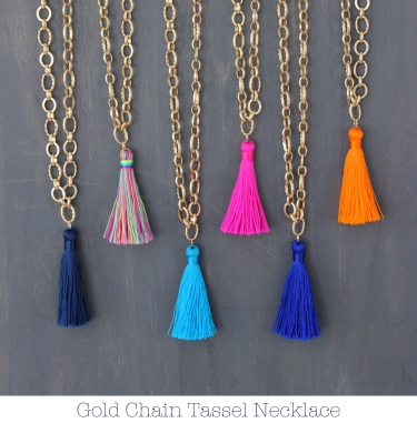 gold chain tassel necklace shop page thumbnail