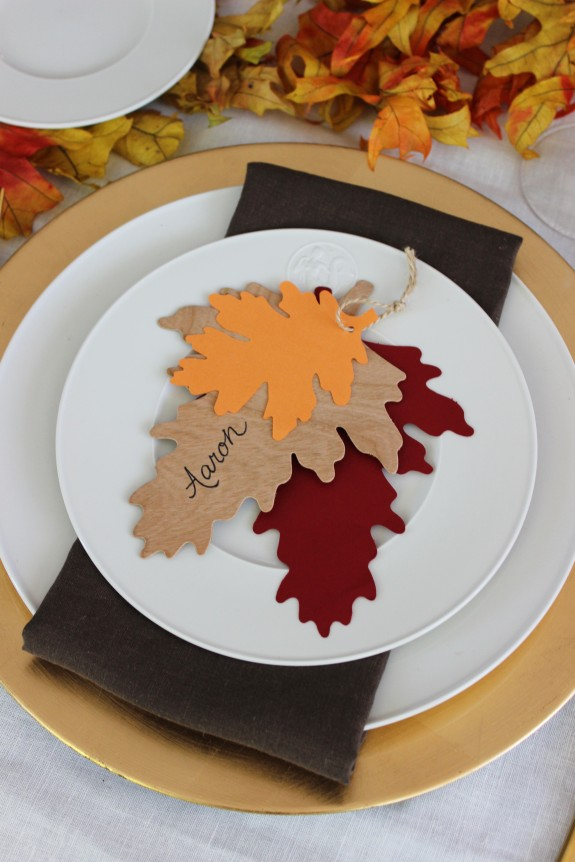 fall leaf place card 1