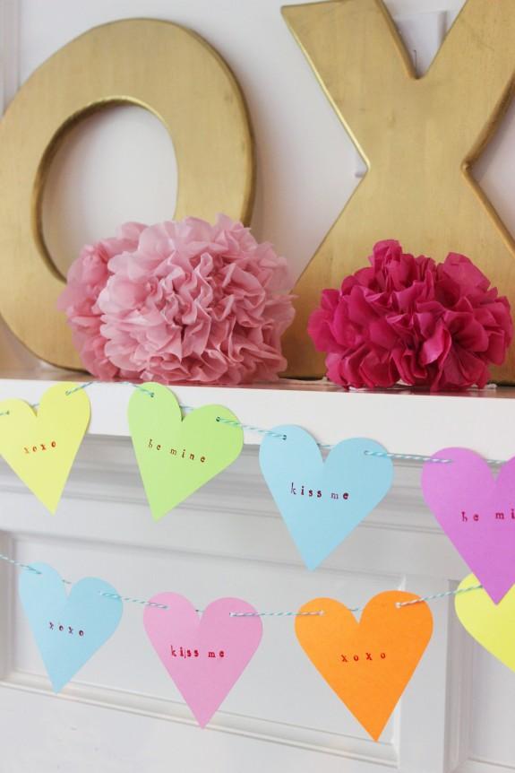 candy heart garland