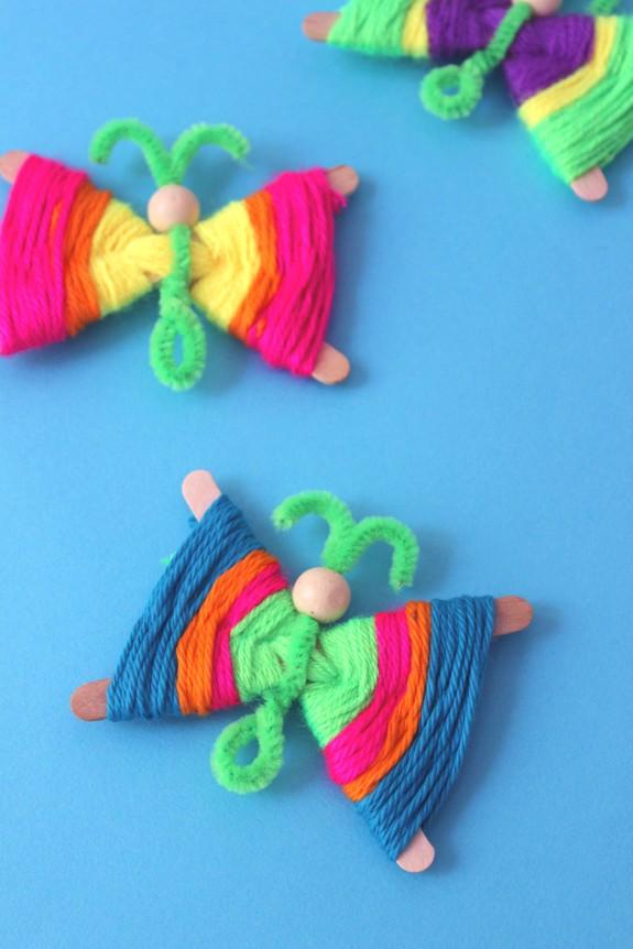 popsicle stick butterflies 2